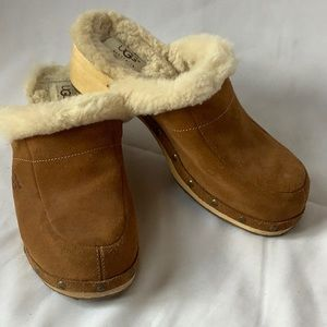 UGG Tan Suede Clogs